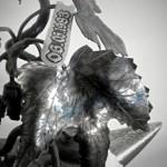 G.c.s.-Kovaný stojan-Chmelový keřík.. (8)